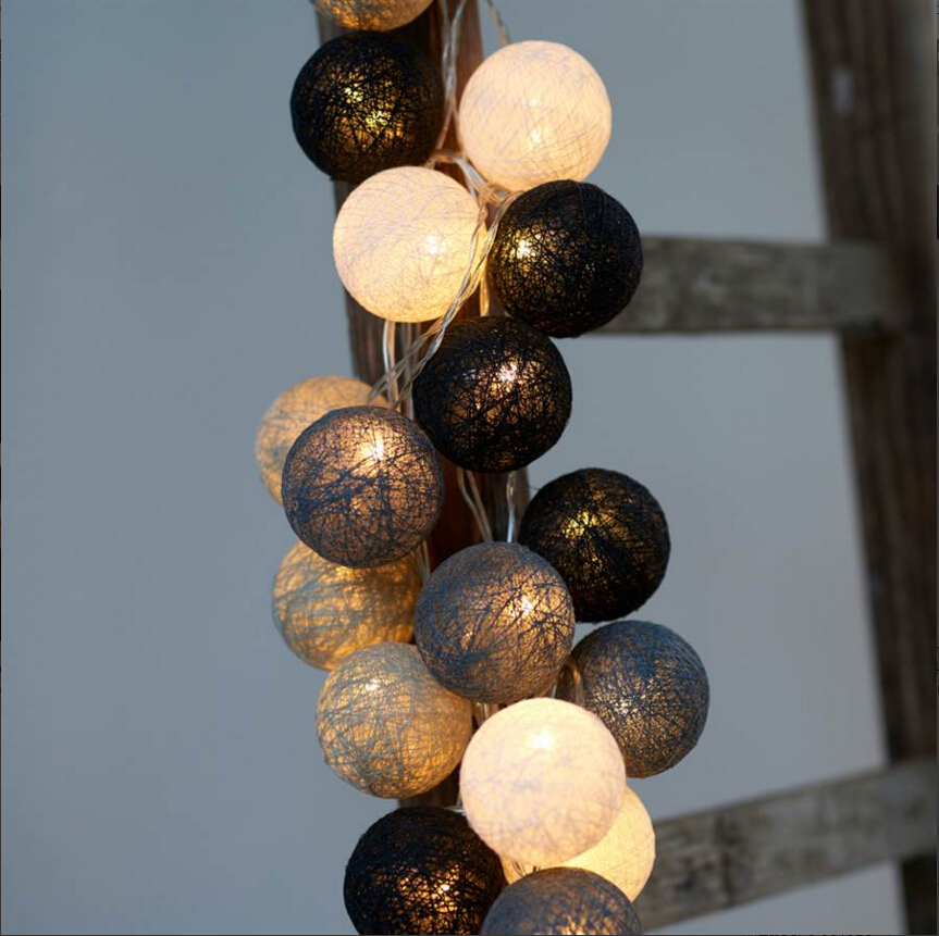 20PCS,christmas lights,garland string lights,AC110V/220V,cotton ball light,home indoor decoration,wedding decoration,fairy light(China (Mainland))
