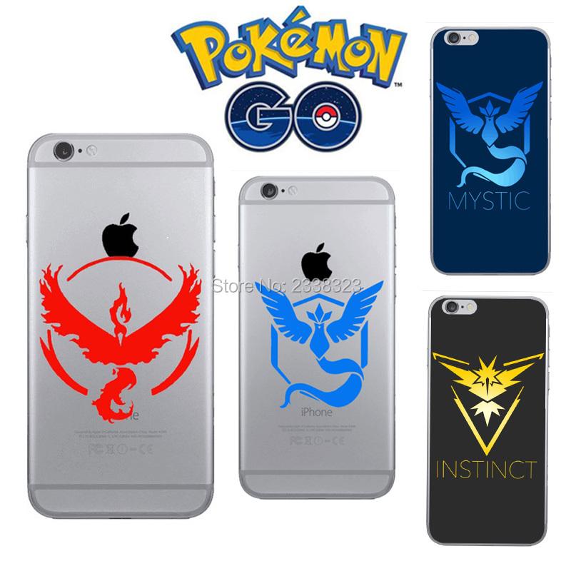 Mobile Game Pokemons Go Pokeball Team Valor Mystic Instinct Hard Phone Cases For iPhone 4 4s 5 5s SE 5c 6S 6 plus 7 7Plus Fundas(China (Mainland))