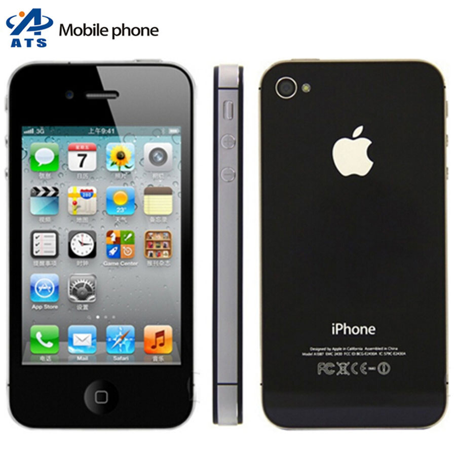 "Original Apple iPhone 4S Mobile Phone 3.5""IPS IOS Dual Core 8MP 3G WIFI GPS 4s cell phone Free Shipping(China (Mainland))"