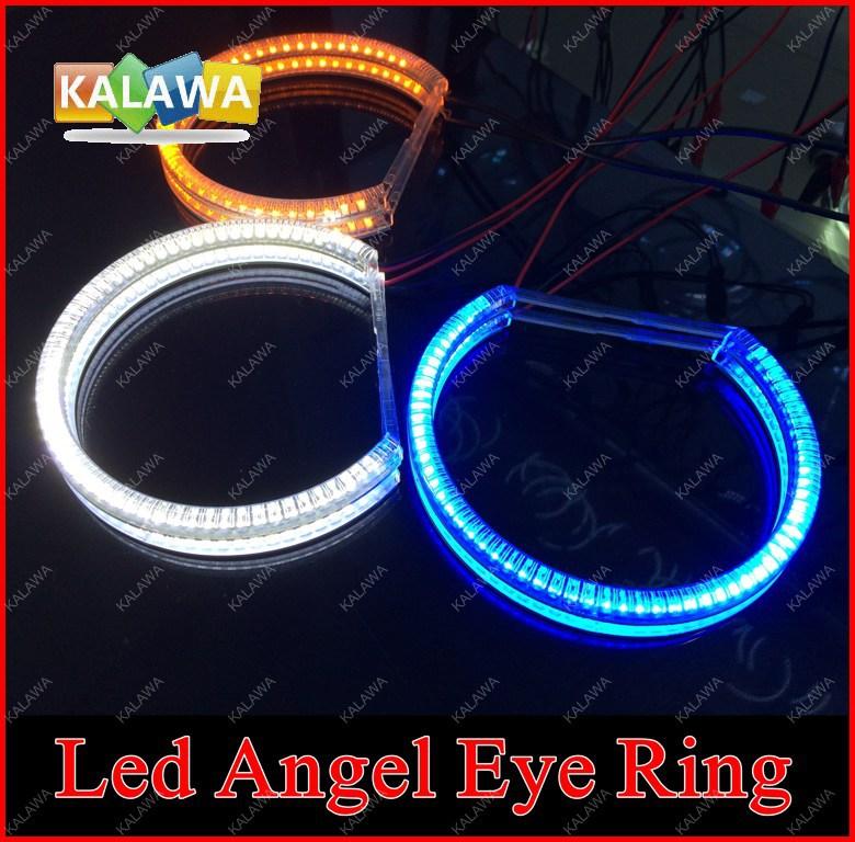 2pcs/set 146MM Universal Led Angel Eyes Car Headlight SMD CCFL Led Rings 6500K+Harness Many Colors Options Freeshipping GGG(China (Mainland))