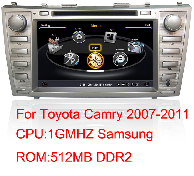 HD Touch 8inch car dvd for TOYOTA CAMRY 2007-2011 STEREO 3G Radio Bluetooth RDS 3D PIP with fast shipping