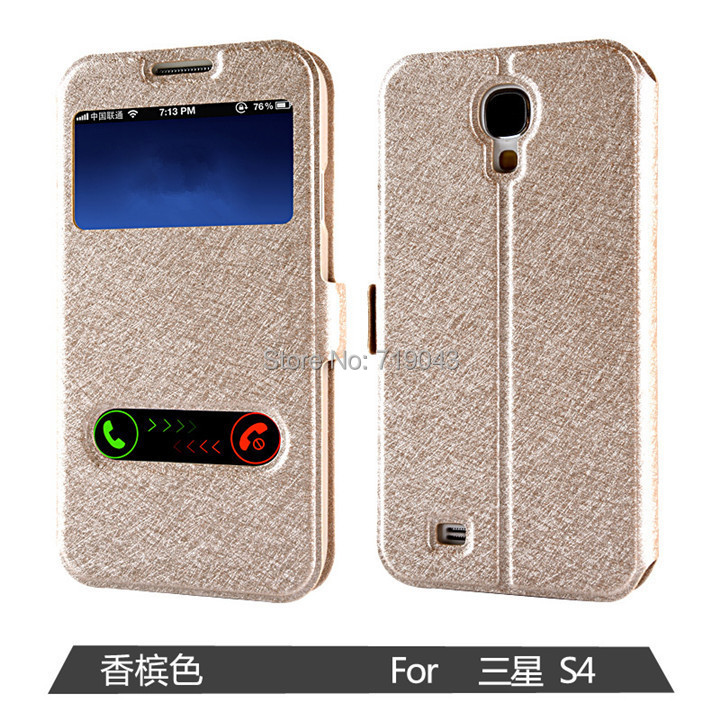 pu leather mobile phone case samsung galaxy S4 I9500 9500 GT-I9500 i9515 S 4 flip cover luxury colorful original - March_e-store store