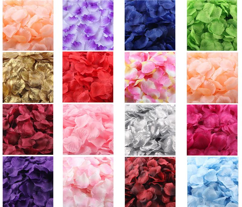 New 100pcs/lot Fashion Atificial Flowers Polyester Wedding Rose Petals wedding Decorations wedding favor(China (Mainland))
