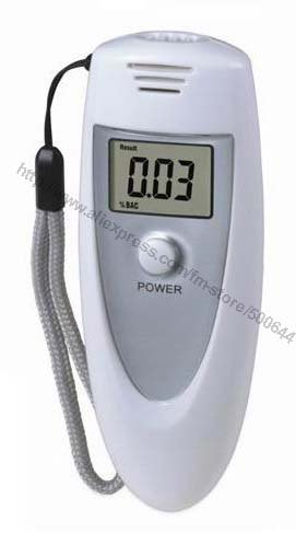 Digital LCD Alcohol Breath Tester with Orange-colored Backlight & 2pcs/Lot Free Shipping(China (Mainland))