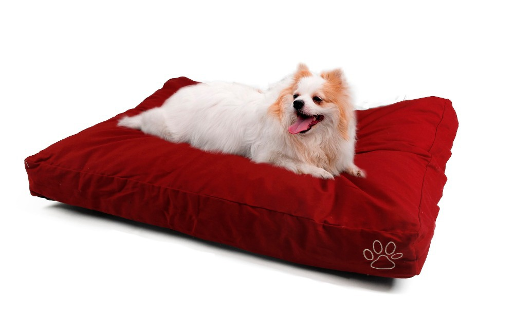Dog Cushion Cover Red Yan Cotton Bed Cover Pet Fleece Blanket Big Dog Bed Mat Cover Domestic Delivery L/XL(China (Mainland))