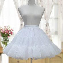 Новинка 2019 года; бальная юбка из органзы в стиле Лолиты; Милая Короткая юбка-американка; цвет белый, черный; кринолин; Нижняя юбка(China)