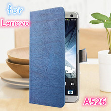 Luxury Vintage Stand Wallet PU Leather Case For Lenovo A526 Phone Bag with Card Holder Retro Deluxe Case For Lenovo A 526