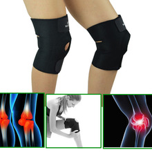 Adjustable Sports Leg Knee Support Brace Wrap Protector Pads Patella Brace Knee Belt Fastener Belted Sports Knee Brace Black