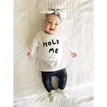 2016 niñas bebés ropa carters patrón de la letra de manga larga camiseta + pantalones 2 unids traje de bebé recién nacido sistema de la muchacha ropa(China (Mainland))
