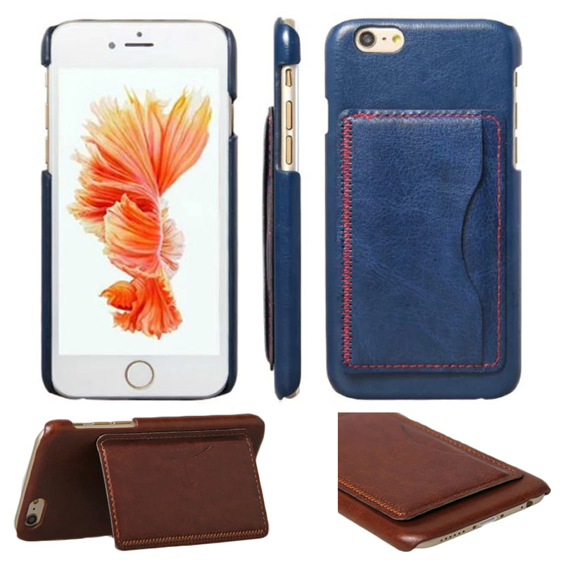 For Iphone 6 6S Retro Crazy Horse Stand Leather Case Cover with Card Holder for Iphone 6S Plus