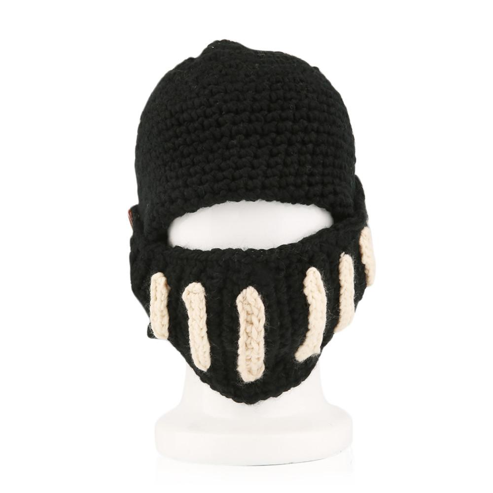 Вязание мужская шапка маска 24