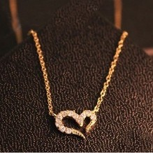 Free Shipping $10 (mix order) New Fashion Vintage Misha Barton Love Heart Necklace Women Chain N0917 Jewelry 4g