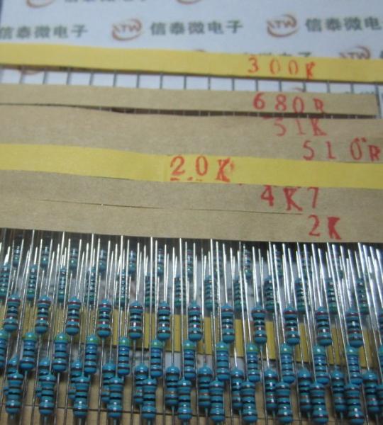 Резистор 600pcs 30 1/4W