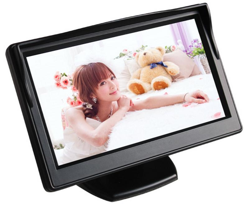 "4.3"" Dashboard Backup Color TFT LCD Car Monitor Rearview for Camera DVD VCR freeshipping dropshipping(China (Mainland))"