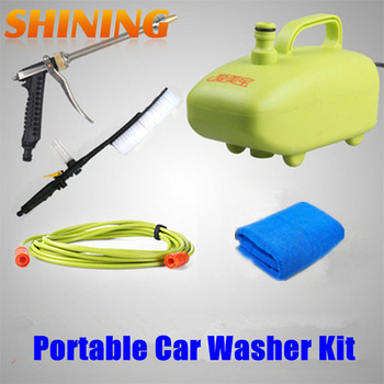 Free Shipping Electric 12V 60Watt High Pressure Car Washer Portable Car Washing Machine Tool Pump Kit Device