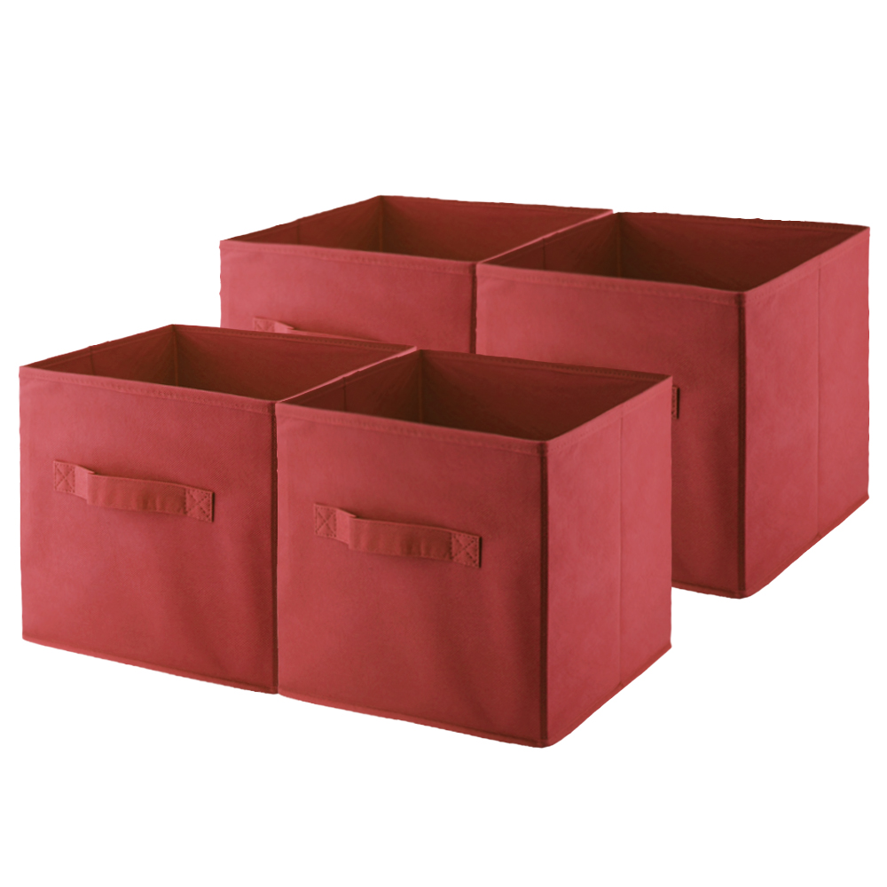 4 PCS 1 set 28*26*26cm Box for Storing ClothING Storage Box Set Container for Toy Organization Dustproof Non-Woven Fabric(China (Mainland))