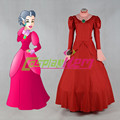 Customized movie Lady Tremaine Cosplay Costume from Cinderella Lady Tremaine red dress