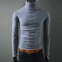 망 터틀넥 스웨터 2018 새로운 가을 캐주얼 남성 풀오버 긴 소매 블랙 솔리드 니트 bottoming 셔츠 슬림 맞는 스웨터(China)