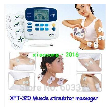XFT-320 Health Care Body Foot Massager Dual Tens Machine Digital Electrical Therapy Acupuncture Massageador Stimulator Device(China (Mainland))