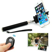 Bluetooth Remote Shutter Selfie Stick Extendable Handheld Monopod For iPhone 4 5 6 Plus Samsung LG Android pau de selfie