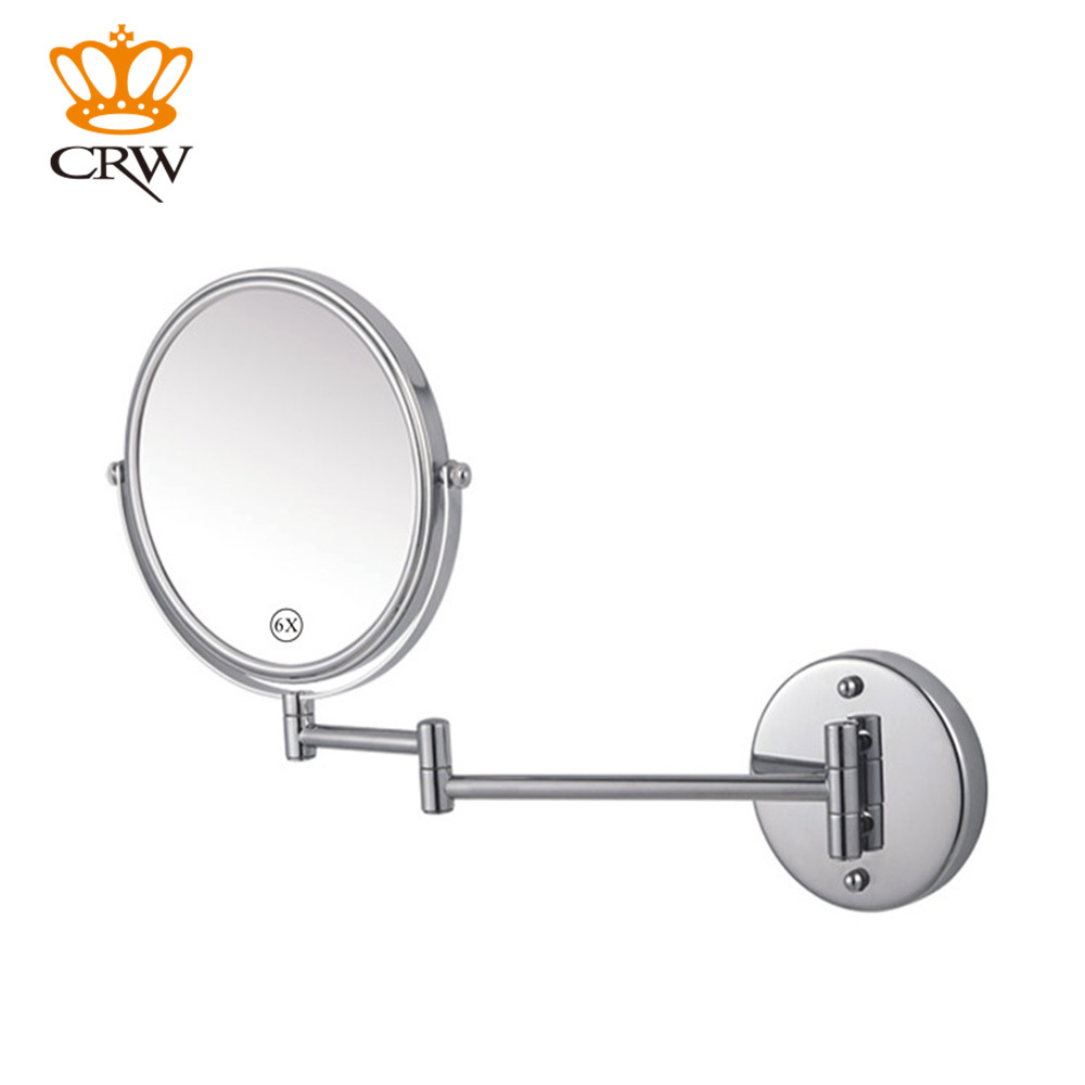 "CRW 8"" Makeup mirror 1:1 and 1:3 Magnifier Copper Cosmetic Bathroom Double Faced Bath Mirror GMD8-5 Free Shipping(China (Mainland))"