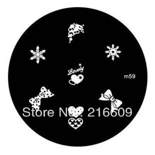12pcs/Lot butterfly and Bow m Series Nail Art Stainless Steel Stamping Template + 1 Stamp + 1 Scrap m49-m60 Free shipping(China (Mainland))