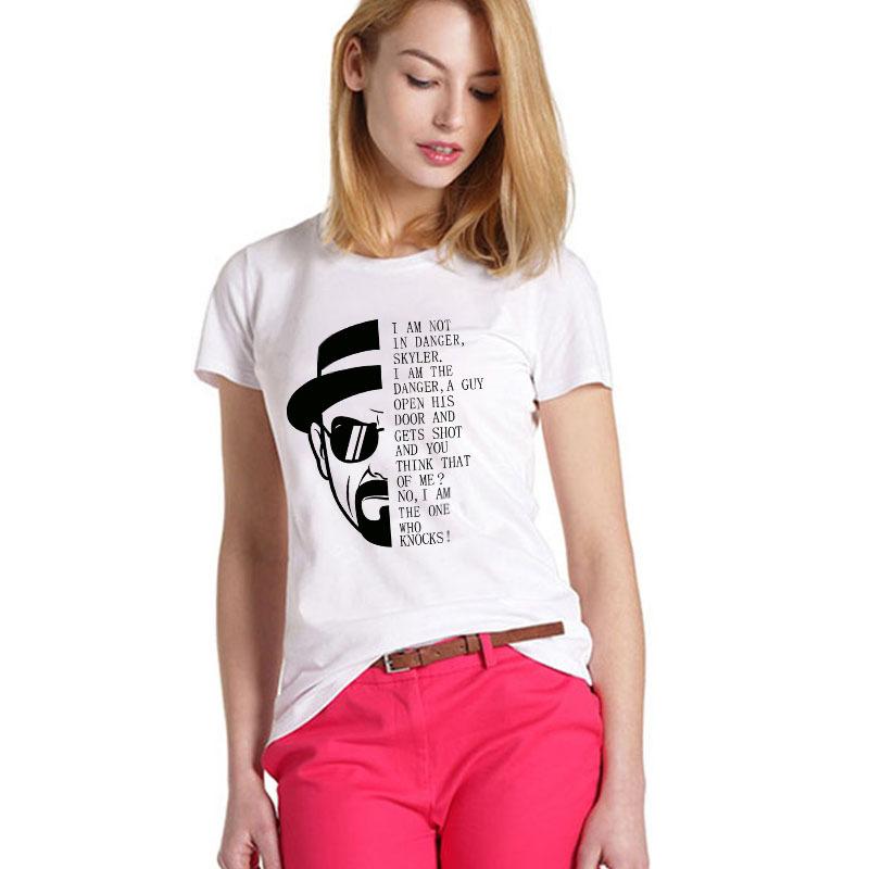 American TV Series Breaking Bad/Walter White//Heisenberg t shirt Women high quality round neck Short Sleeve fashion t-shirt(China (Mainland))