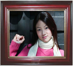 17 digital photo frame 17 advertising machine electronic photo album - - - red wood-framed material