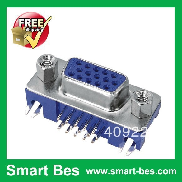 ~ 10 male connector Hdr15 VGA socket 15pin 90-degree curved needle electronic component  -  Shenzhen S-Mart Electronics Co., Ltd~ 24hour fast shipping~ store