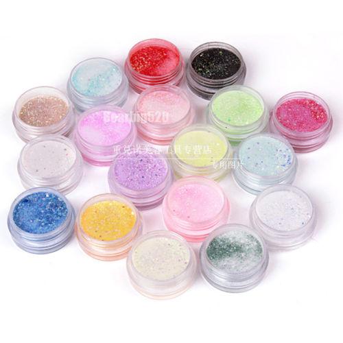 18 Beauty Colors Nail Gel Nail Art Acrylic Powder Bulider Cave Acrylic Nail Sculpture For UV Gel Tips WholeSale(China (Mainland))