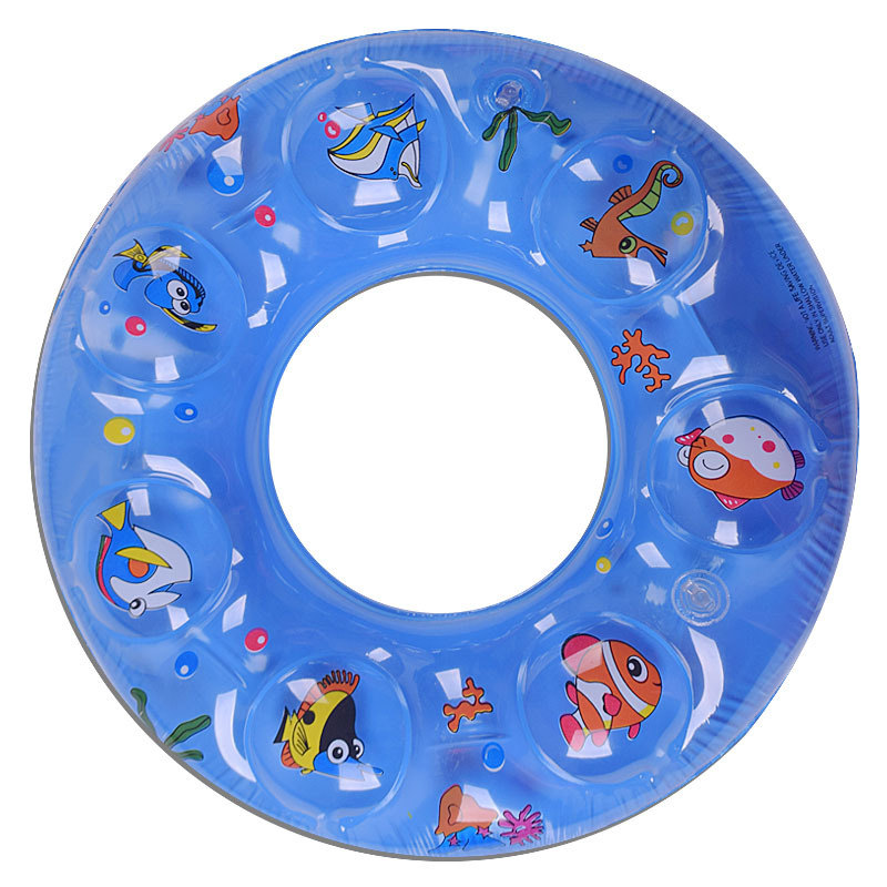 60cm PVC Cartoon Fashion Kids Baby Inflatable Swimming Pool Child Swim Ring Arm Float Laps 2 Layer Boat Water Accessory S1002(China (Mainland))