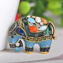 Blucome Thailandia Elefante Spilla a Forma di Variopinta Dello Smalto Spille In Resina Spilli Per Le Donne I Bambini Sciarpa Vestiti Cappello Accessori Dei Monili(China)