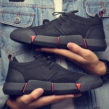 NUOVO di Marca di Alta qualità tutto Nero scarpe di cuoio casuali degli uomini di Modo Traspirante Scarpe Da Ginnastica di moda appartamenti LG-11(China)