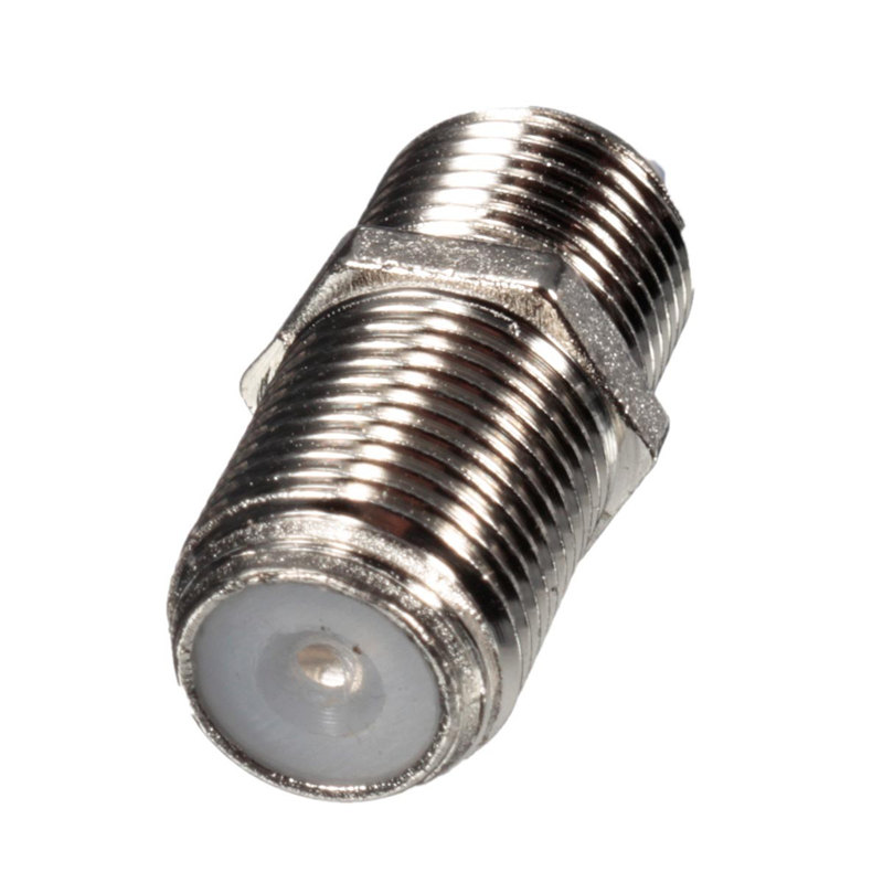 High Quality 10Pcs/bag Aluminium Alloy Joiner Barrels Connector F Plug Coupler Adapter 4 Sky Plus HD TV Coax Cable(China (Mainland))