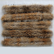 Fur collar The real raccoon fur collar 100% Natural Real Raccoon Fur Collar(China (Mainland))