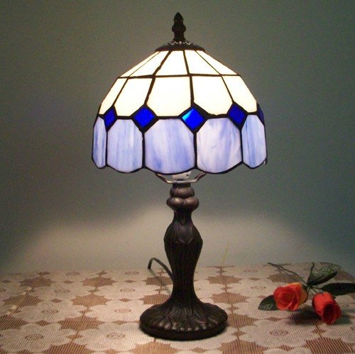 Mediterranean Mini Tiffanyed Table Light.Yellow,Green,Blue,Pink,YSL-TD003,Free Shipping(China (Mainland))