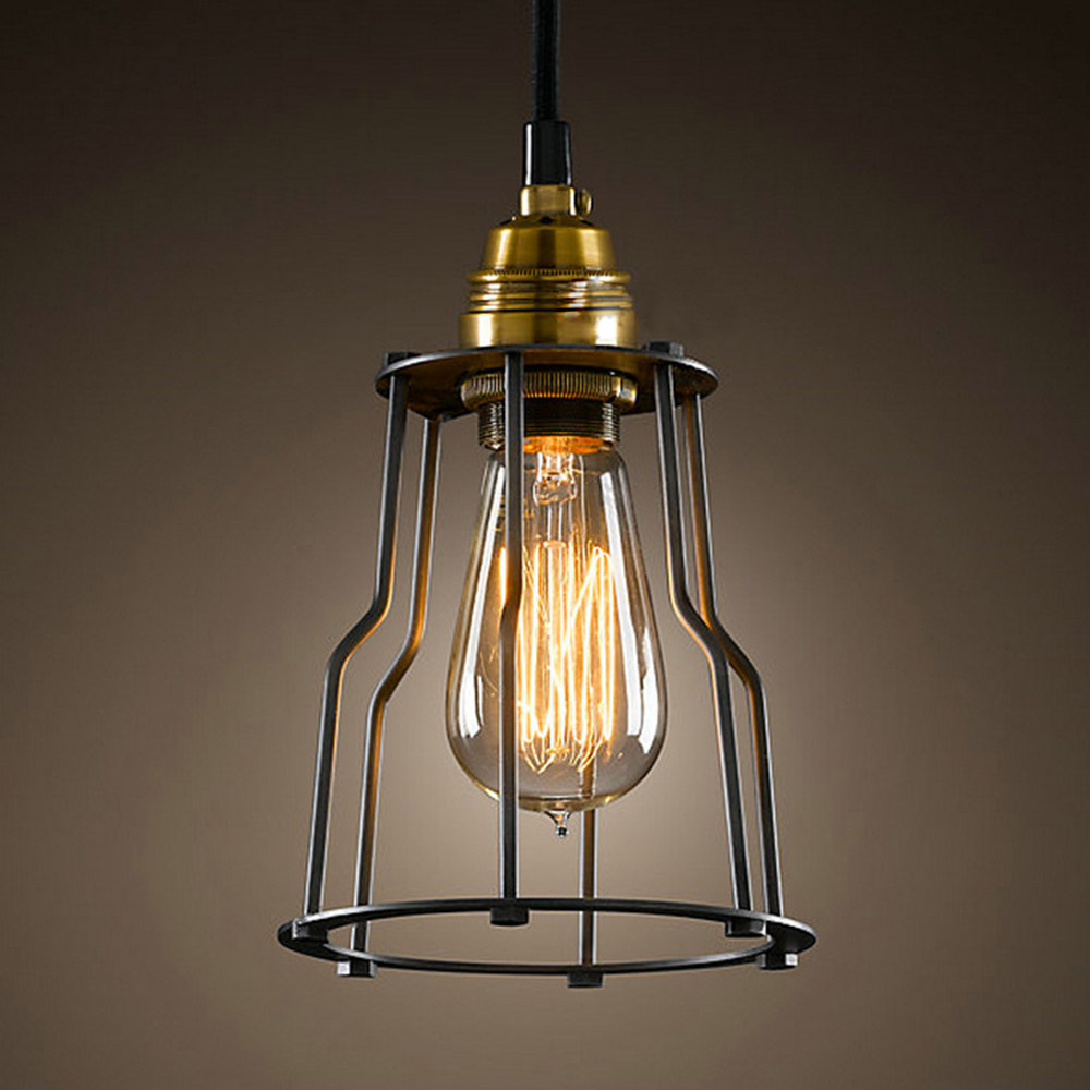 Hot sell vintage industrial iron lamps retro pendant lighting bulbs ceiling lamp holder america Lamp bulb types
