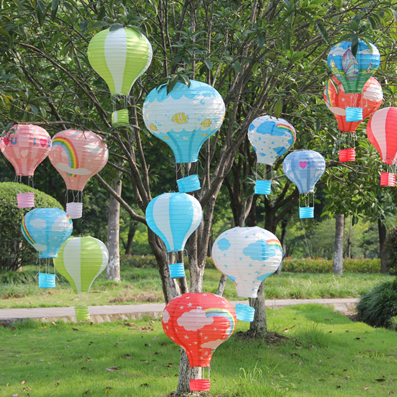 12 Colors Available Fire Balloon Shape Round Chinese Paper Lantern 25/30/35/40cm Craft DIY Birthday Wedding Party Decoration(China (Mainland))