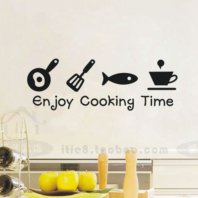 Creative Kitchen Wall Decor: [i Story] Fun Free Shipping Waterproof Creative Tile Wall Stickers,glass Cabinets Kitchen Decor