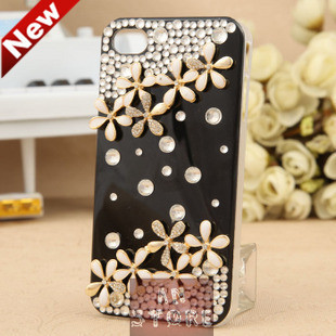 2014 New Hot Fashion Luxury Bling Diamond Case For iPhone 4 4s Case High Quality Plastic Case For iPhone 4 4s Free Shipping