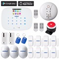 KERUI GSM Home Security Alarm Systems LCD Touch Keyboard detector ios app Alarm System with door