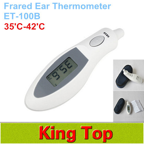 """1.1"""" LCD Infrared Digital Ear Thermometer Digital For Adult Baby human Portable Ear Infrared IR Thermometer Free Shipping 1Set(China (Mainland))"""