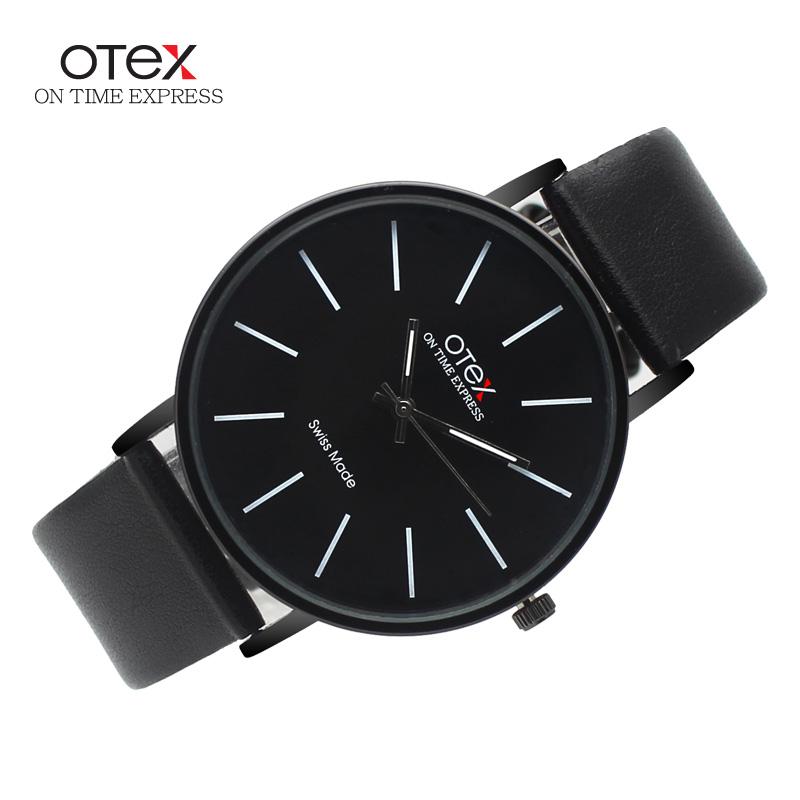 Top Brand luxury OTEX Fashion Business Quartz Watches Men Leather Waterproof Wristwatches Men Watch Relogios Masculino(China (Mainland))
