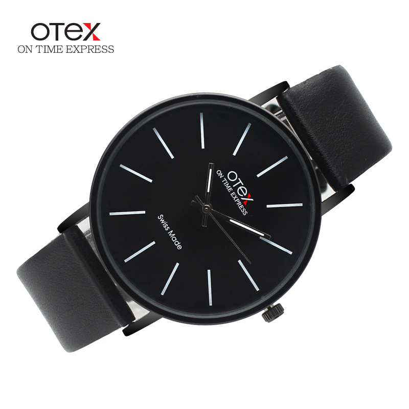 Top Brand luxury OTEX Fashion Business Quartz Watches Men Leather Waterproof Wristwatches Men Watch Relogios Masculino(China (Mainland))