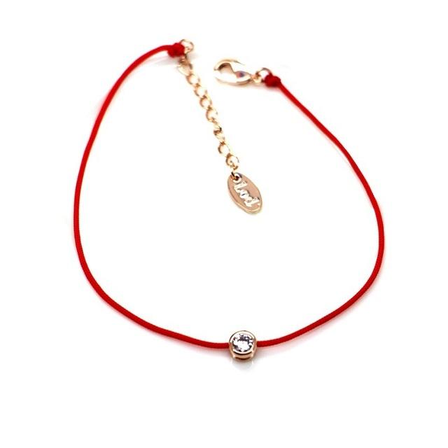 Простой красная линия мода кристалл браслеты для женщин бижутерии ювелирных украшений ...
