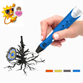 2016 Newest 17cm Graffiti 3D Printing Pen DIY Hand painted Creative Scrawl Toys Adjustable Stereo Dauber