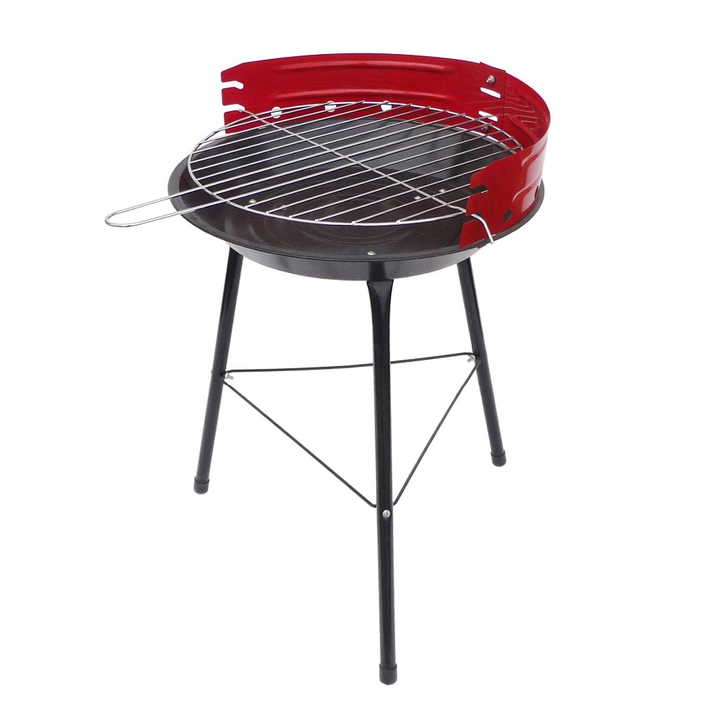 "14"" Red Steel Portable Charcoal BBQ Grill for Barbecue Camping Outdoor Cooking(China (Mainland))"