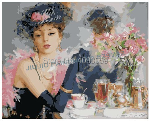 Frameless DIY Digital Oil Painting Free Shipping 40X50cm Beautiful Bride Arcylic Paint Paintings Home Dec Painting By Numbers(China (Mainland))