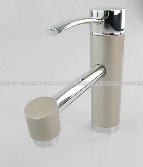 Free shipping European style luxury marble brass hotel artistic faucet sanitary sink Tap brass bibcock  2 hoses single hand