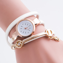 Design Lowest prcie leather women watch,Winding Pendant Bracelet women jewelry watch,New arrival relojes mujer quartz watch